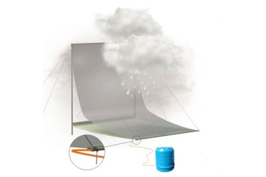 The Cloud Harvester Catches and Stores Fresh Water from Fog