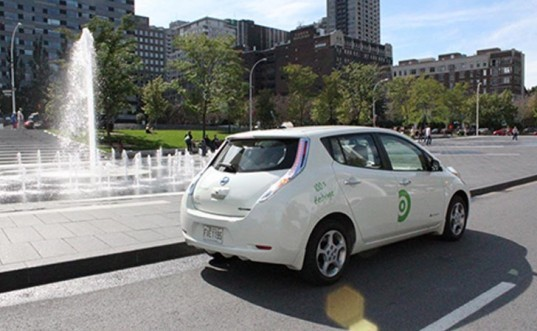 one-way car sharing, electric vehicles, nissan leaf, communauto, le plateau-mont-royal, auto-mobile, one-way car sharing pilot program, benoit robert, stm, bixi, car sharing with reservation, OPUS card, using transit card for car sharing, communauto subscribers