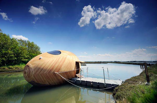 Exbury Egg: Amazing Self-Sustaining Floating Office Launches in the UK