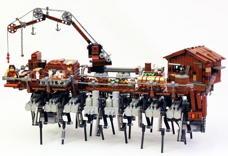 Post Apocalyptic Lego Ship Can Walk Around On Dry Land