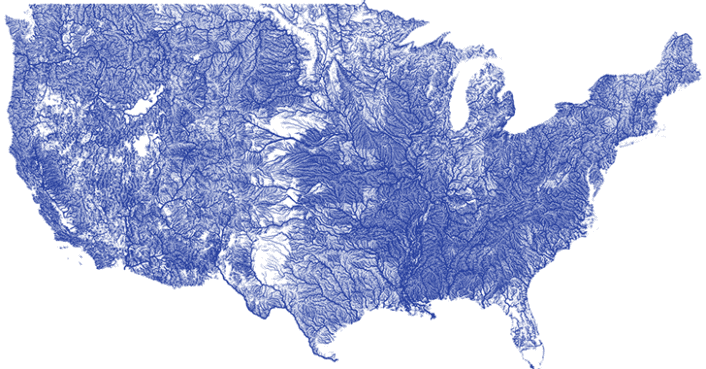 nelson minar creates a stunning map showing every river in the us inhabitat green design innovation architecture green building