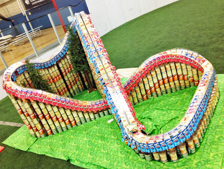 Working Roller Coaster Made Entirely From Cans Unveiled At