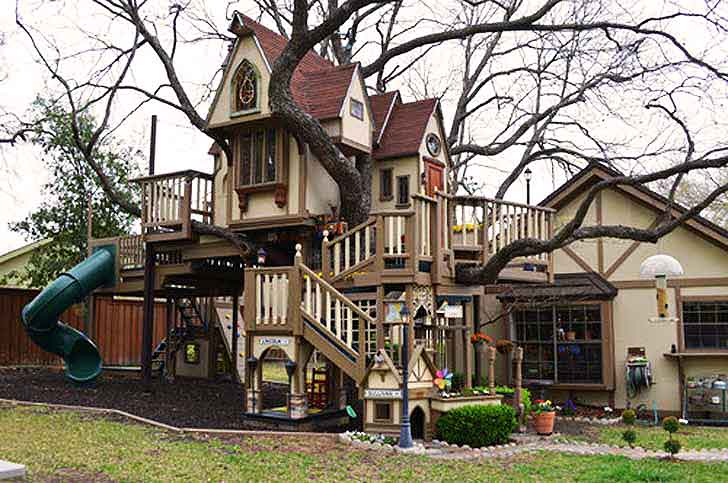 Grandparents build an amazing victorian style treehouse for How to build a victorian house