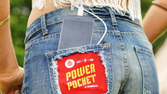 Vodafone, Power Pocket, energy-generating shorts, Vodafone shorts, kinetic energy-harvesting shorts