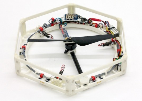 3d-printed drones, 3d-printed Swiss technology, The Distributed Flight Array, IDSC, hexagonal plastic drones, self-assembling drones, self-assembling robots, green design, sustainable design, eco-design, 3d-printing technology