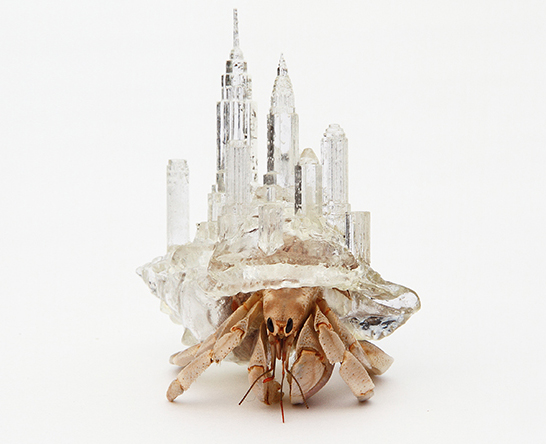 Aki Inomata S Crystalline 3d Printed Hermit Crab Shells Are Inspired By The World S Architectural Wonders