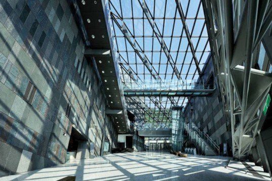 Artech, slope, Lanyang Museum, taiwan, glass, natural light, cuesta rock, rise, Architecture, Daylighting