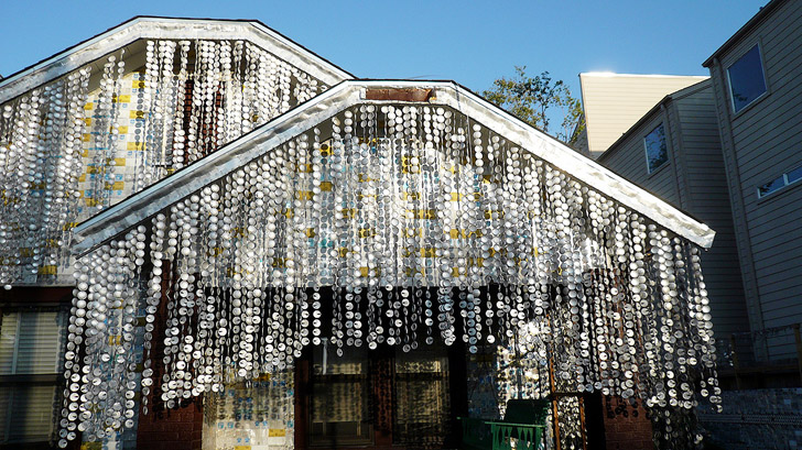 Admirable Beer Can House Texas Home Made From 50 000 Cans Now A Interior Design Ideas Philsoteloinfo