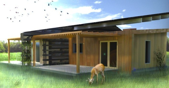 Solar powered canopy house features a liquid cooled for Tent over house