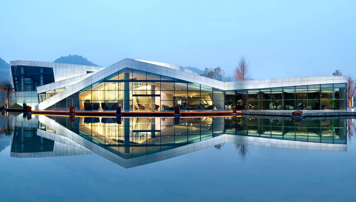 Spark architects 39 chongqing clubhouse rises in china for Clubhouse architecture design