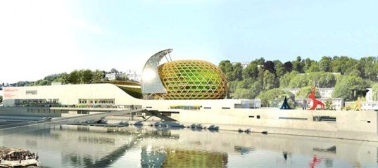 Shigeru Ban, Cité Musicale, International Design Competition, Japanese architects, Japanese design, mixed use cultural building, Paris Opera Ballet School, Seine River projects, gateway to Paris, urban development, brownfield rehabilitation,