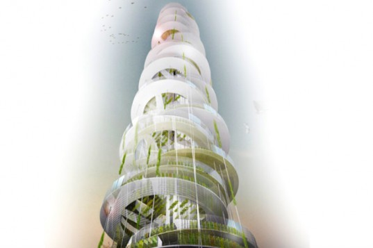 Dyv-Net, Vertical Farm, JAPA Architects, china, urban farm, dynamic vertical networks, sustainable food