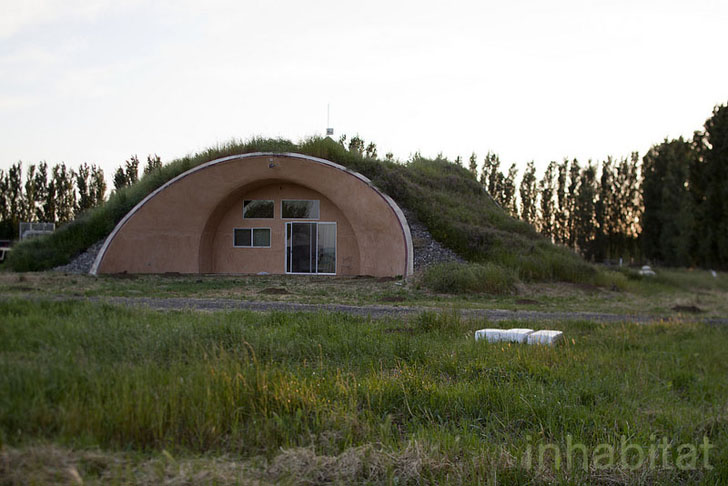 Photos Earth Sheltered Formworks Farmhouse Rises In