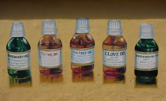 Painting of Essential Oils