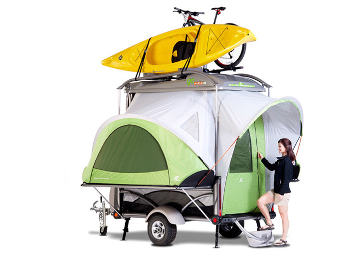 SylvanSports Lightweight GO Pop Up Camper Comes With Its Own Solar