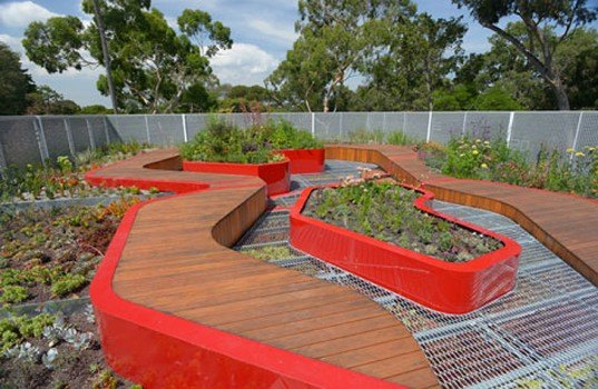 green design, eco design, sustainable design, University of Melbourne Burnley Campus, BUrnley Living Roofs, HASSELL, Demonstration Roof, Biodiversity Roof, Research Roof