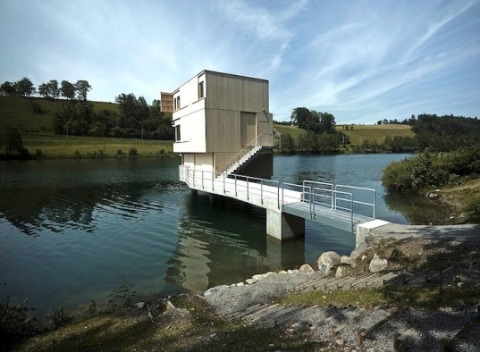 Switzerland, AFGH Architekten, floating structures in Switzerland, Lake Rotsee, Lake Rotsee Refuge, Lake Rotsee regatta, green design, prefab design, eco-design, sustainable design