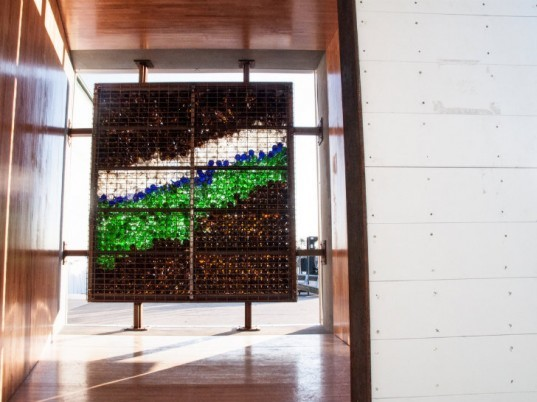 Lightwall, ReSpace Competition, recycled materials, salvaged materials, habitat for humanity, north carolina, glass bottle wall