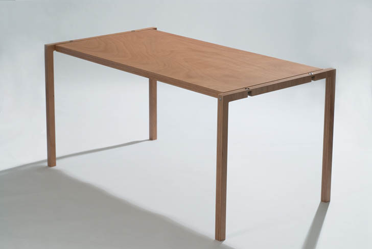 Lodovico Bernardi's Minimalist Table Folds Down to 1 Inch For Storage  Almost Anywhere