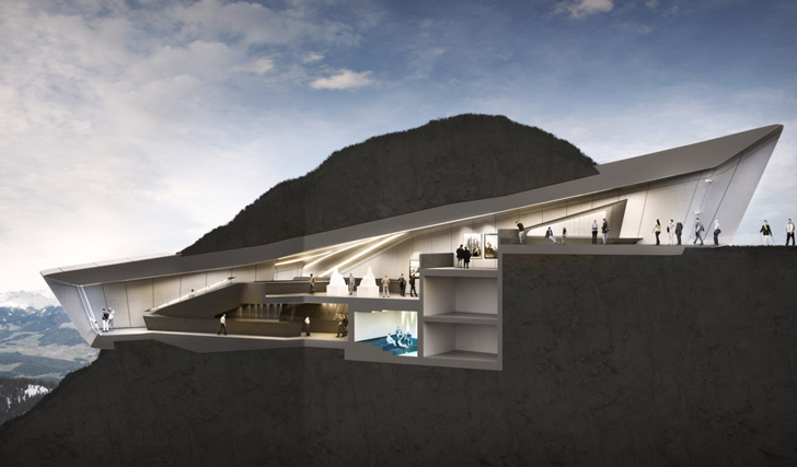 Zaha Hadid Designs Mountaintop Museum For Reinhold Messner