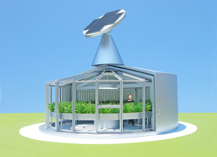 Self Sustaining Homes michael jantzen's solar eco-aquaponic house is a self-sustaining