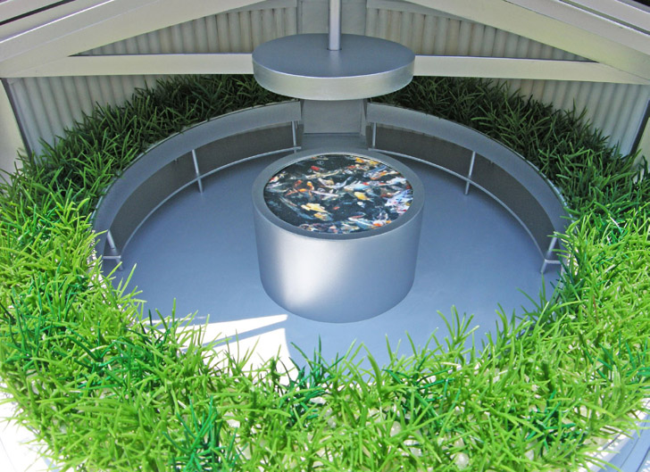 Michael jantzen s solar eco aquaponic house is a self for Self sustaining fish tank