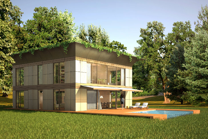 Prefabricated Positive Energy Homes By Philippe Starck And: Philippe Starck & Riko Unveil Prefab P.A.T.H Eco Homes In