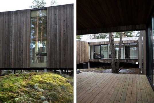 Beautiful Wooden Home In Norway Is Built Around Forest