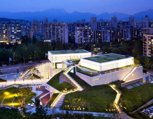 green design, eco design, sustainable design, green roof, SAMOO Architects, Buk Seoul Museum of Art, museum addition, cultural centers Seoul