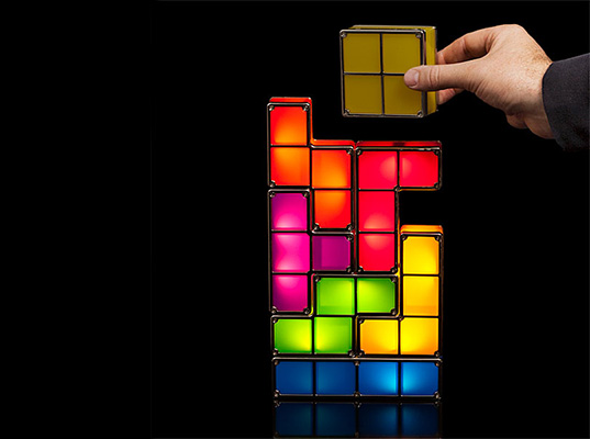 Stackable Tetris LED Lamp Takes Video Game Decor to a Whole New Level