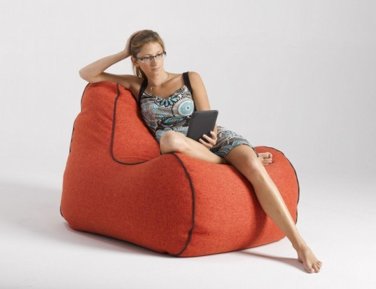 Lujo S Shapely And Stylish Bean Bag Is A Comfy Chair