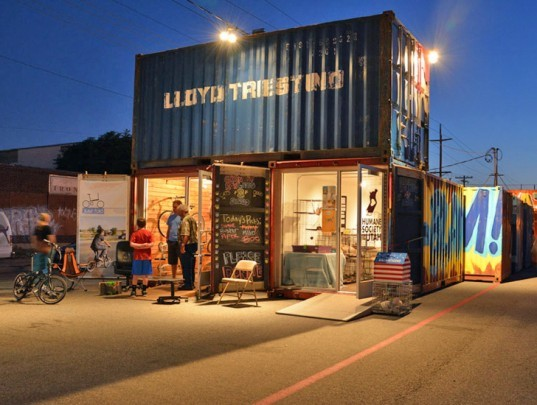 granary row, salt lake city, shipping container neighborhood, recycled shipping container, green design, sustainable design, green architecture, sustainable design, cargotecture, granary district, shipping container