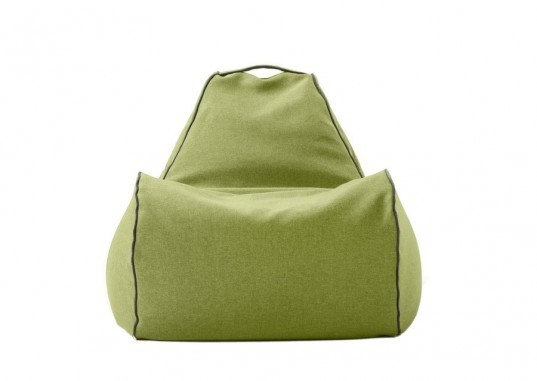lujo, eco bean bag, green furniture, bean bag chair, durable bean bags, stylish bean bags