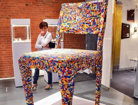 legos building blocks furniture furnishings life-sized humanscale eco & Amazing Life-sized Lego Furnishings That You Can Really Live With ...