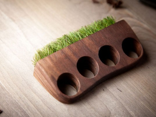 Mr Lentz, Etsy, wood jewelry, jewelry, moss, grass, Plant Ring