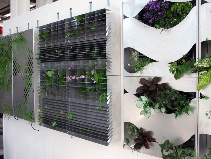 William lee s beautiful living wall system gives building for Living wall systems