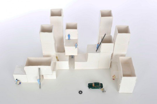 Jurrijn Huffenreuter, ceramic BLOCKS, blocks, building set, modular blocks, ceramic design