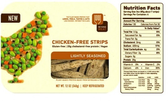 Lab-Grown, Beef Burger, Sergey Brin, Twitter-backed projects, Beyond Meat Chicken Strip, plant-based protein, fake meat, lab-grown burger, stem cells, research, The Netherlands, protein alternatives, meat alternatives, fake chicken, soy-based protein alternatives, soy chicken strips, beyond soy