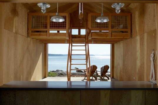 Bosworth Hoedemaker, boathouse, Hood Canal Boathouse, renovation, sliding doors, local wood, Architecture, Green Materials, Green renovation