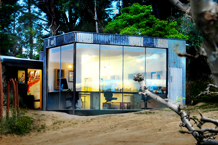 Branch Studio\'s Recycled Corrugated Iron Workspace Ages Gracefully ...