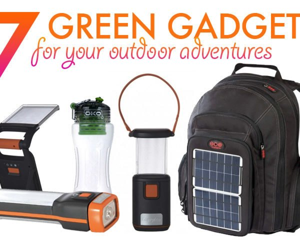 7 Green Gadgets For Your Outdoor Adventures, LED lamps, solar power backpack, voltaic backpack, portable energy generator, gadget charger, LED lamp, flashlight, water filtering water bottles