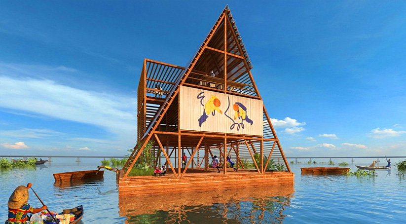 Sustainable Makokos Floating School in Nigeria is Finally Complete