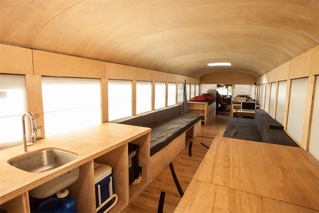 Architecture Student Retrofits School Bus into Sleek Mobile Home for the Ultimate Road Trip