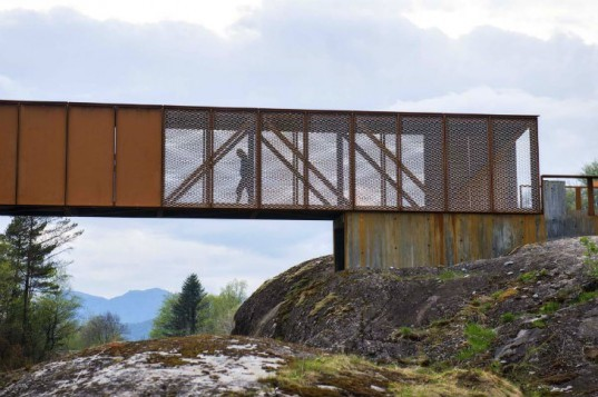 Høse Bridge, hose bridge, Rintala Eggertsson Architects, pedestrian bridge, bridge, footbridge, norway