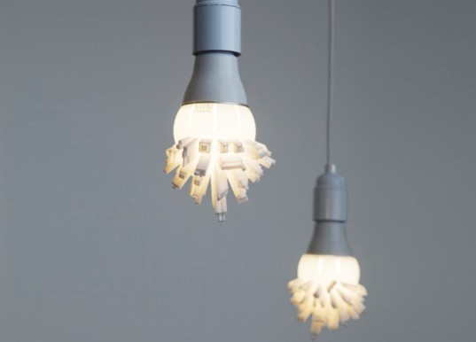 David Grass, Huddle 3d-printed light bulb, 3d printed light bulb, LED light bulb, LED lighting, green lighting, light bulb design, 3d printing, 3d printer, 3d printing technology, green design