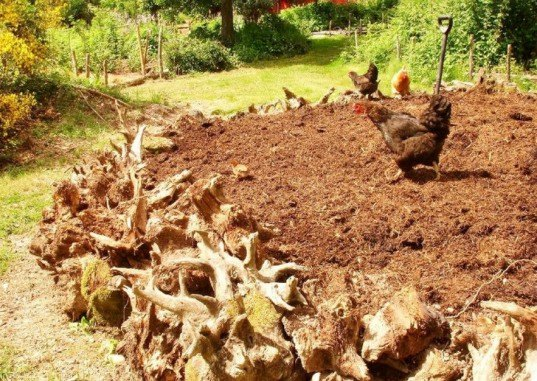 Diy hugelkultur how to build raised permaculture garden - What to put under raised garden beds ...