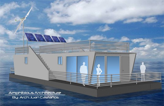 Juan Castanos, Amphibious Home, Self-Sustaining home, disaster proof design, flood proof homes