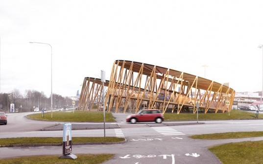 Kjellgren Kaminsky Architecture (KKA), solar-powered charging stations, Gothenburg, charging stations, electric cars, electric bikes, electric scooters, Sweden green design, Sweden green architecture, Sweden green transportation, locally sourced wood, solar energy, solar power
