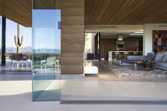 Quartz Mountain Residence, Paradise Valley, Arizona, Kendle Design Collaborative, modern, rammed earth, sustainable, natural light, desert, landscape, passive solar