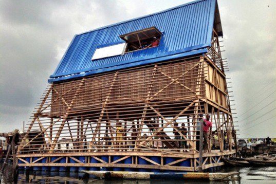 NLÉ, Makokos, Floating School, Nigeria, bamboo, wood, solar panels, rainwater harvesting, pilot project, Lagos, Kunle Adeyemi, Architecture, Water Issues, Solar Power, Green Materials, energy efficiency, Floating Houses,